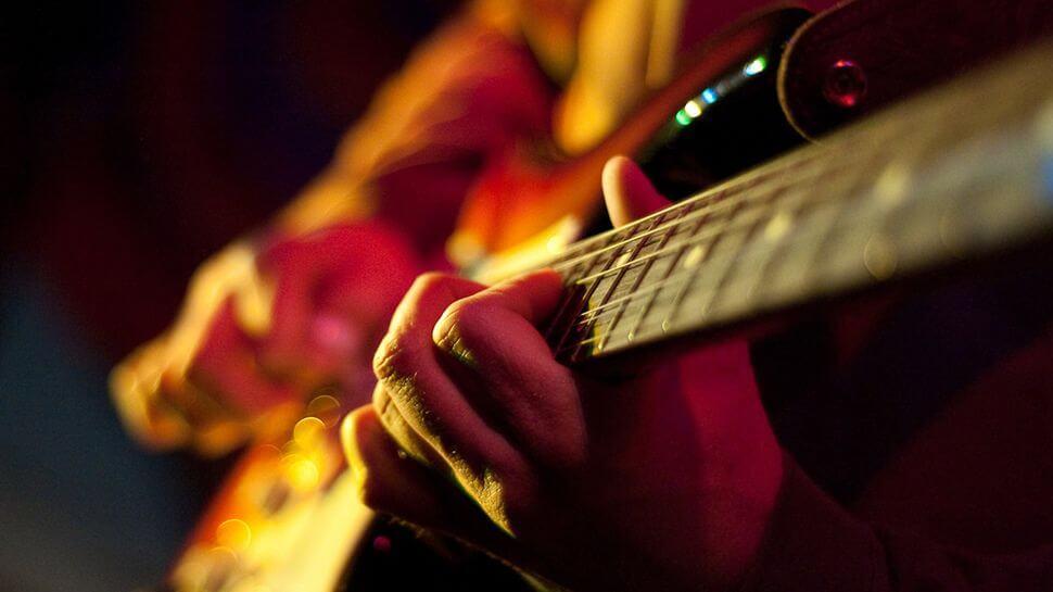 egészség, gitár, technika